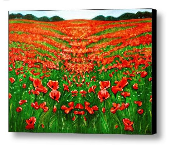 The Green Man's Meadow Canvas Print